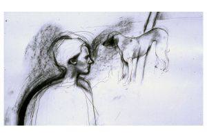 Untitled 1989 56x77cm pencil, charcoal