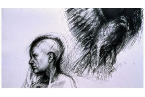 That draught at the back of your neck  1989 56x77cm pencil